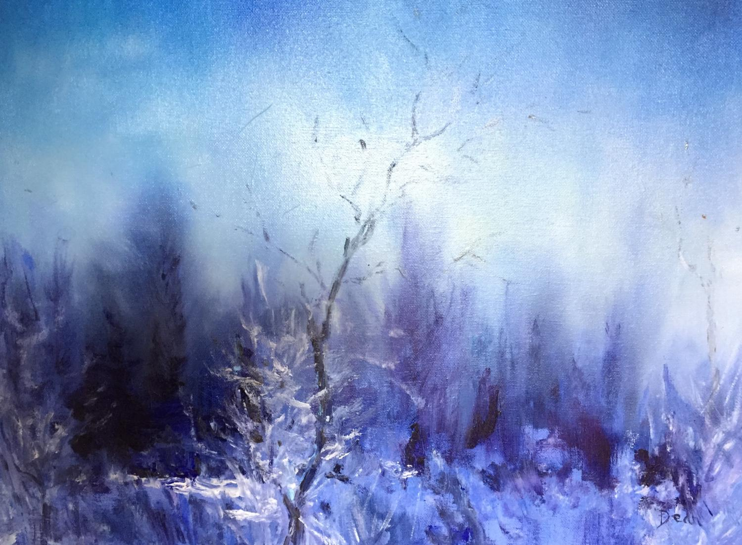 """Wintery Night: Woodford"" SOLD"