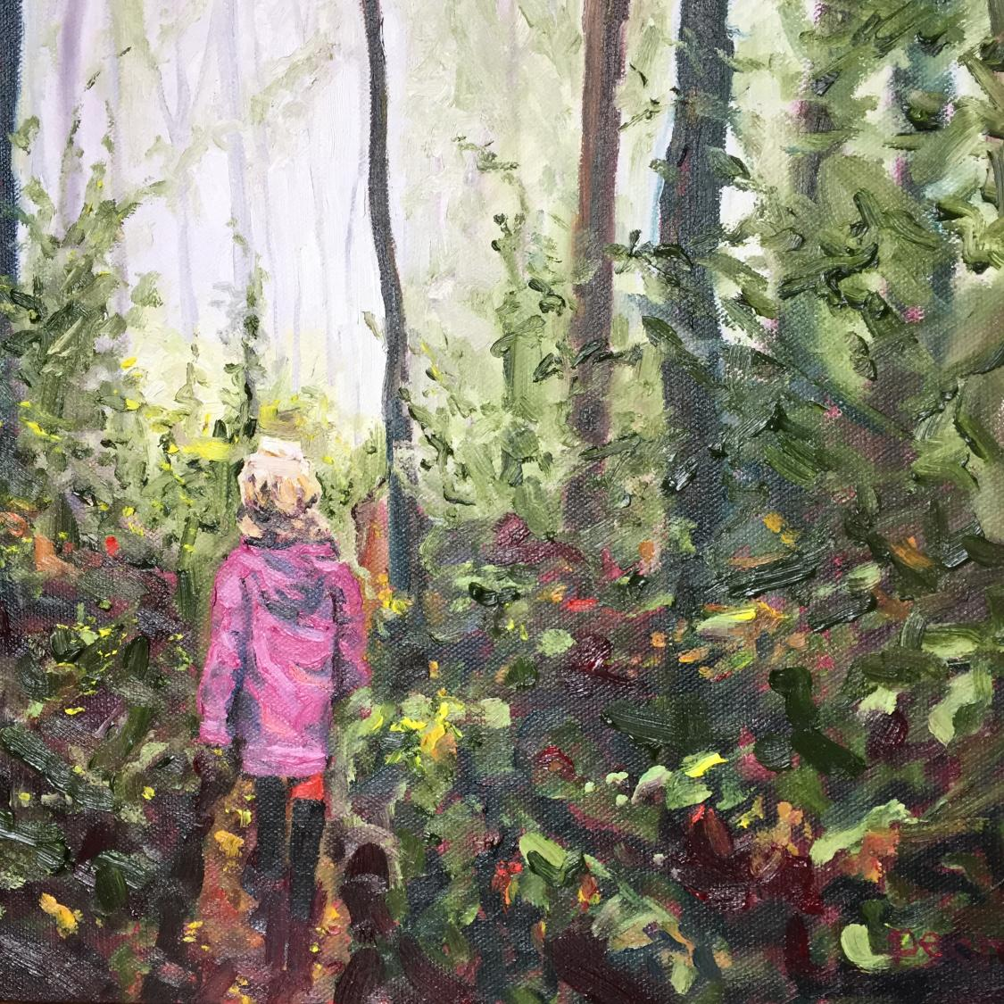 """Girl on Trail"" SOLD"