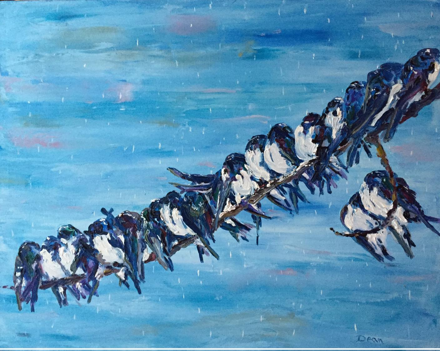 """Blue Buntings"" SOLD"
